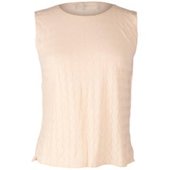 Giorgio Armani Top Nude Sleeveless Pretty Subtle Design 44 / 10 Fits 8
