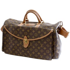 Louis Vuitton Large Monogram Duffel Bag Overnight Travel Keepall Rare French Co