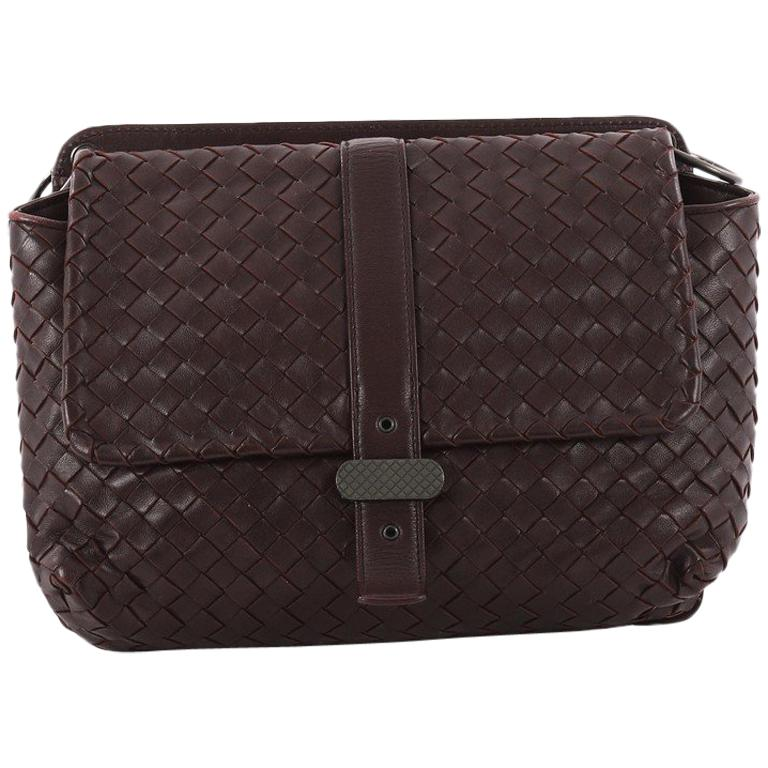 6fb875305ed7 Bottega Veneta Dual Side Flap Shoulder Bag Intrecciato Nappa at 1stdibs