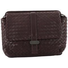 Bottega Veneta Dual Side Flap Shoulder Bag Intrecciato Nappa
