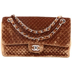 Chanel Vintage Classic Single Flap Bag Micro Quilted Velvet Medium