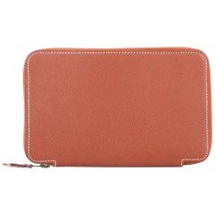 Hermes Globetrotter Zip Agenda Handbag Epsom GM