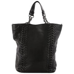 Bottega Veneta Convertible Chain Tote Leather with Intrecciato Detail Medium