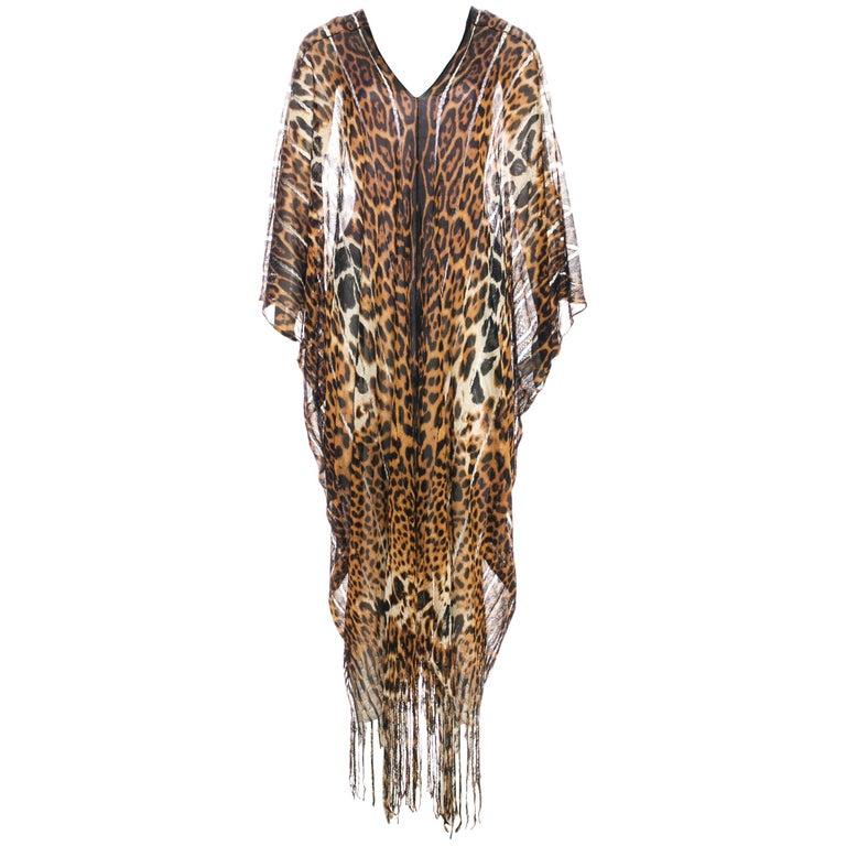 62487915b669 Tom Ford for Yves Saint Laurent Cheetah Silk Fringed Sexy Caftan, S / S 2002