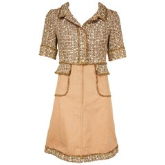 Chanel Tweed & Twill A-Line Dress - Size FR 34