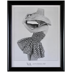 John French Fashion Photography Framed Print 50s Frederica Sunsuit V&A Museum
