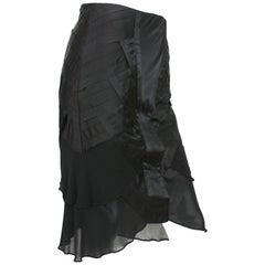 New Tom Ford for Gucci F/W 2004 Black Silk Pleated Skirt It 40 - US 4