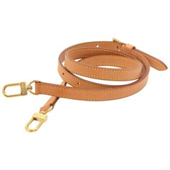 Louis Vuitton Brown Cowhide Leather Shoulder Strap For Small-Med Bags