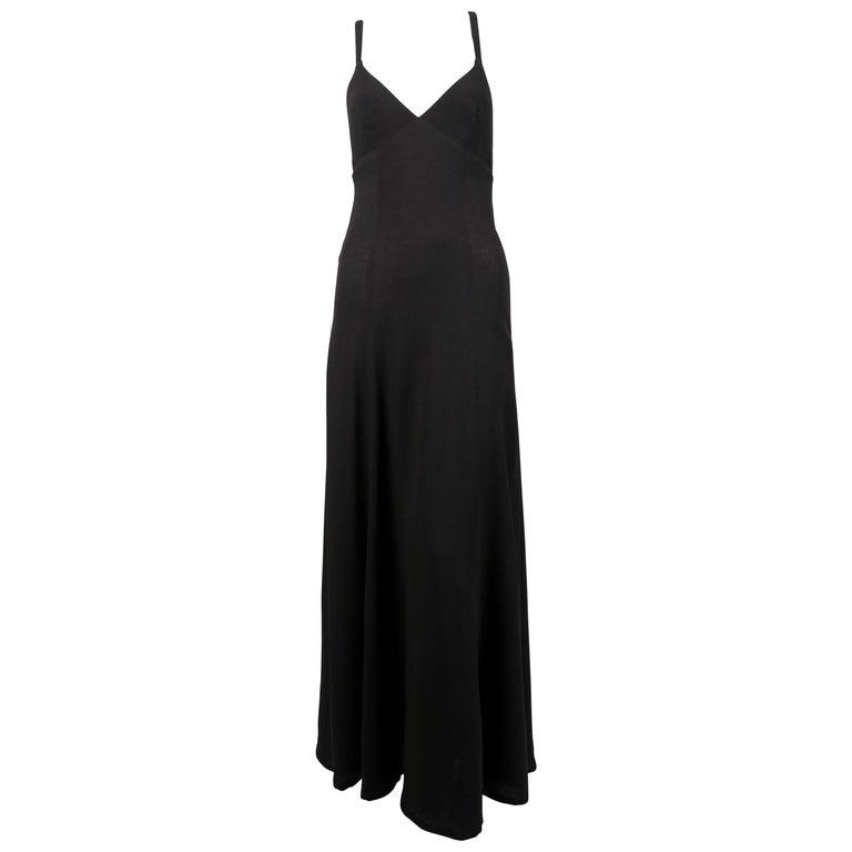 Ossie Clark black moss crepe dress, 1970s