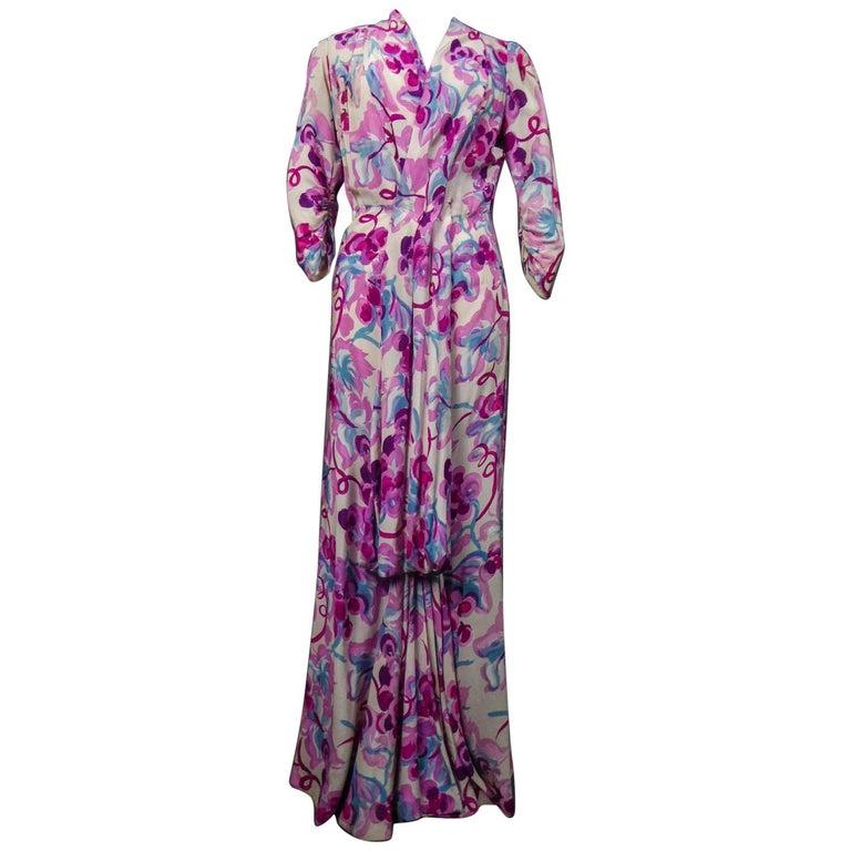 Long Dress Circa 1940 For Sale