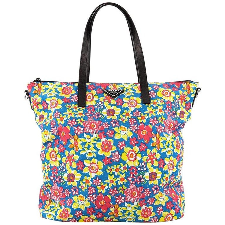 40c22b008a8b Prada Convertible Tote Printed Tessuto With Saffiano Large For Sale ...