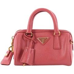 Prada Lux Convertible Boston Bag Saffiano Leather Mini
