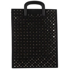 Christian Louboutin Trictrac Portfolio Bag Leather and Spiked Leather Large