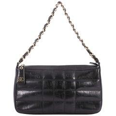 Chanel Square Quilt Shoulder Bag Embossed Lambskin Medium