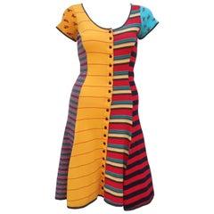 Flirty 1970's Betsey Johnson Alley Cat Cotton T-Shirt Dress