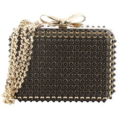 Christian Louboutin Fiocco Box Cabo Clutch Spiked Leather