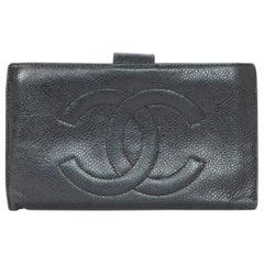 Chanel Vintage Black Caviar Timeless CC Wallet