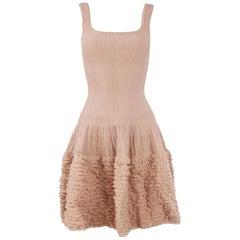 Alaia Blush Sleeveless Fit & Flare Dress - Size FR 38