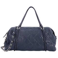 Chanel Relax CC Bowling Bag Quilted Iridescent Calfskin Large