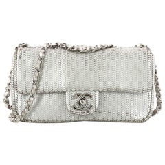 Chanel CC Flap Bag Laser Cut Leather Small