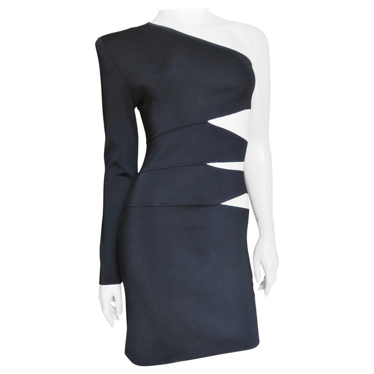 Pierre Balmain One Sleeve Dress with Side Cutouts