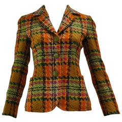 1980s Moschino Couture Wool Weave Jacket