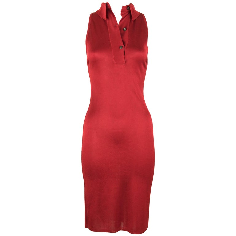 Vintage Alaia Red Dress For Sale