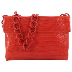 Nancy Gonzalez Chain Crossbody Bag Crocodile Medium