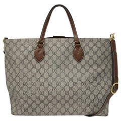 Gucci Supreme Coated Canvas Tote Handbag Shoulder Bag