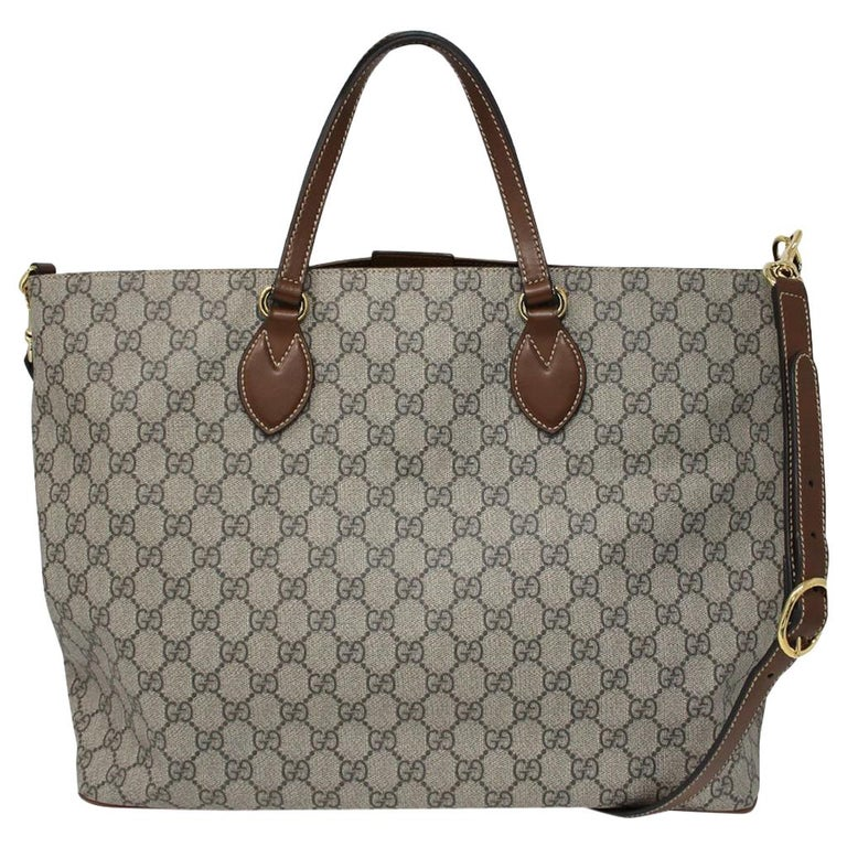 aa2ba89b3d10 Gucci Supreme Coated Canvas Tote Handbag Shoulder Bag at 1stdibs
