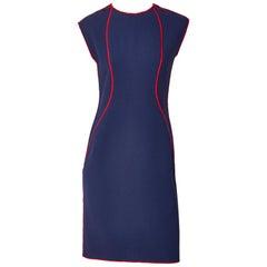 Geoffrey Beene Wool Crepe Day Dress
