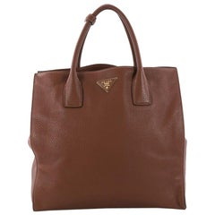 Prada Twin Shopping Tote Vitello Daino Medium