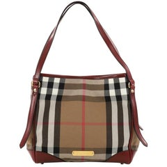 Burberry Canterbury Tote House Check Canvas Small