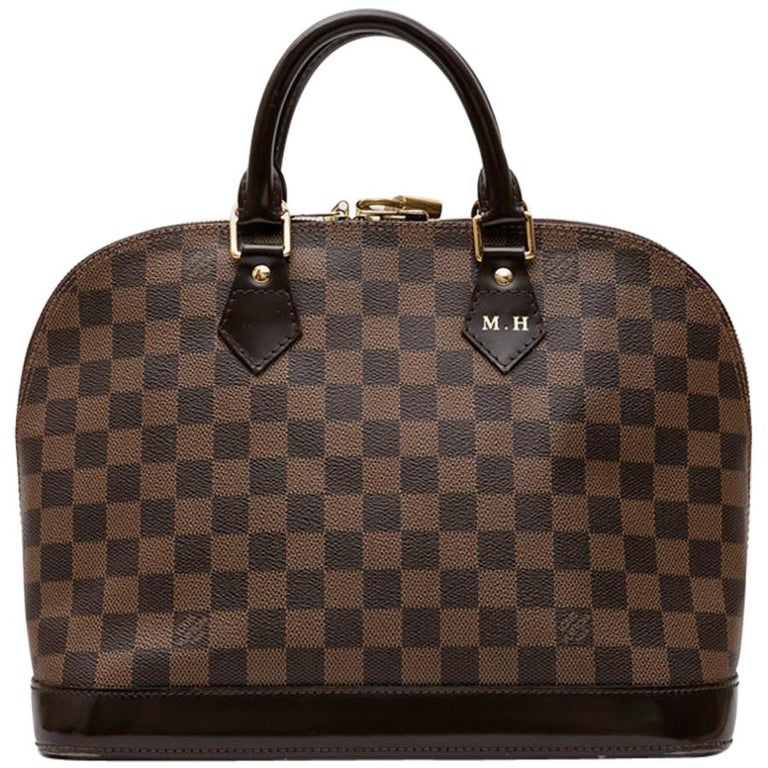 39d21a445a4d LOUIS VUITTON  Alma  Bag in Brown Damier Canvas For Sale at 1stdibs