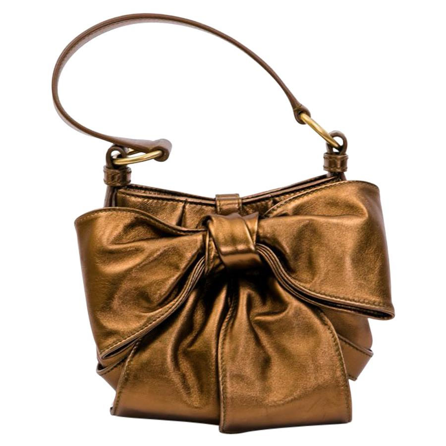 YVES SAINT LAURENT 'Bow' Bag in Copper Lambskin