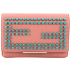 Fendi Wallet on Chain Studded Leather