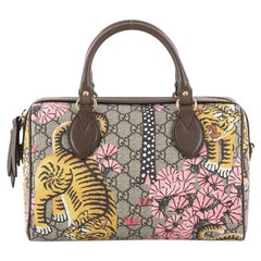 Gucci Boston Bag Bengal Print GG Coated Canvas Small