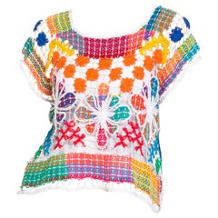 Boho Rainbow Hand Made Beach Lace Top