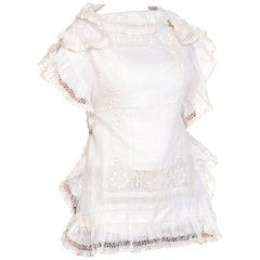 Handmade Lace & Linen Victorian Lace Top