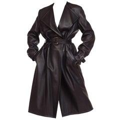 Margiela Hermes Luxe Minimalist Leather Trenchcoat