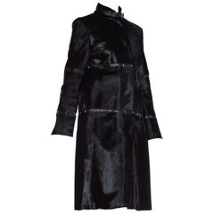 Jil Sander Minimal Pony Hair Fur and Leather Coat