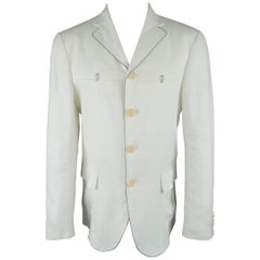 Gaultier Jeans by Jean Paul Gaultier White Linen Hook Eye Jacket / Sport Coat