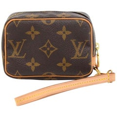 Louis Vuitton Trousse Wapity Monogram Canvas Wristlet Bag