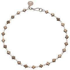 Crux Bronze Cross Choker Necklace