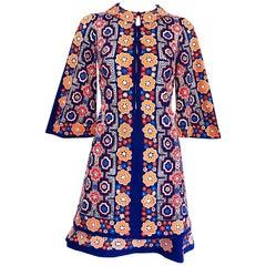 1960s Armonia Italian Jersey Bell Sleeve Vintage 60s Mod Tunic + Mini Skirt