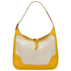 Hermes Yellow x Ivory Canvas Trim 31
