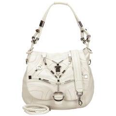 Gucci White Embellished Techno Horsebit Flap Bag