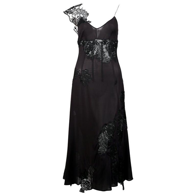 Dolce & Gabbana black lace runway dress, 2002