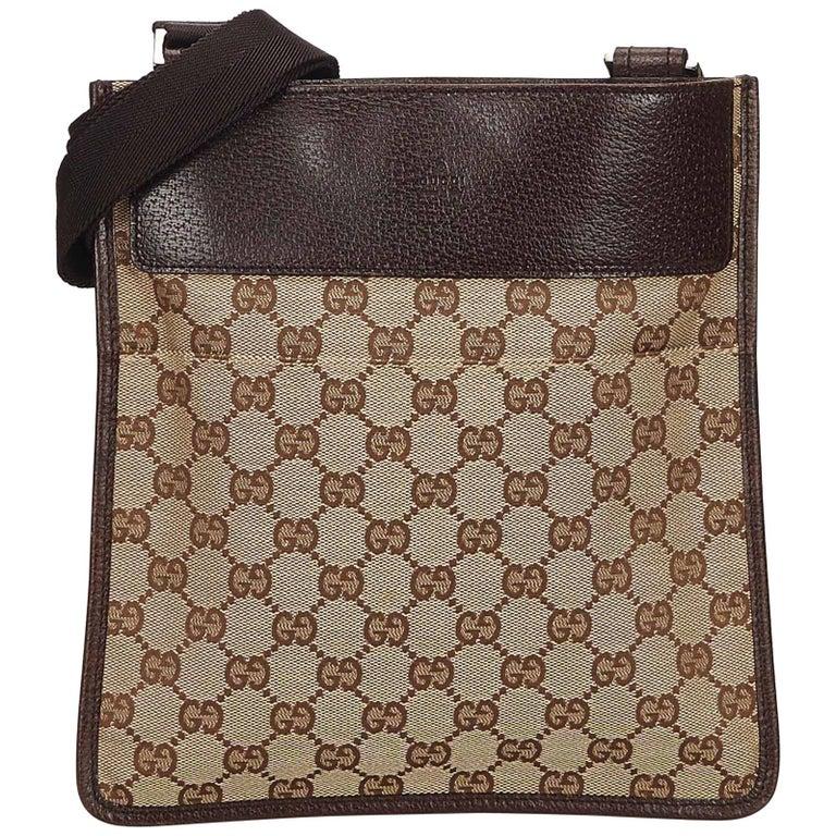 cb9f195d455 Gucci Brown Guccissima Jacquard Crossbody Bag For Sale at 1stdibs