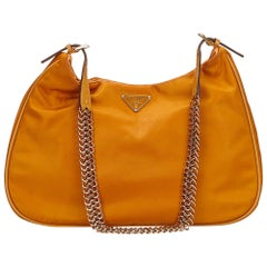 Prada Orange Nylon Shoulder Bag
